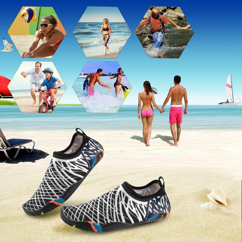 Descalzo Zapatos de Agua LEADFAS Piel Agua de Secado R/ápido Calzado Unisex Hombres Calcetines de Agua para Mujer Ligeros para Piscina Playa Surf Ejercicio de Resbal/ón Yoga Escarpines