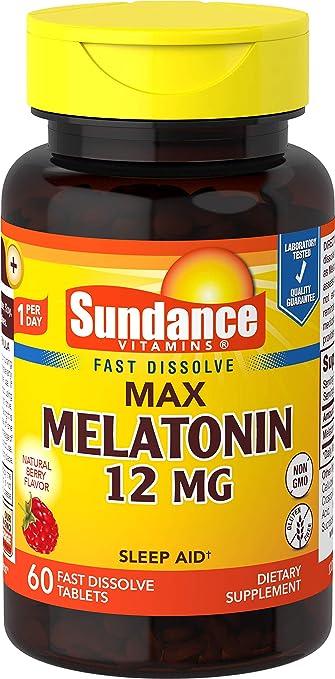 Amazon.com: Sundance 12 mg Melatonina tabletas, 60 Count ...