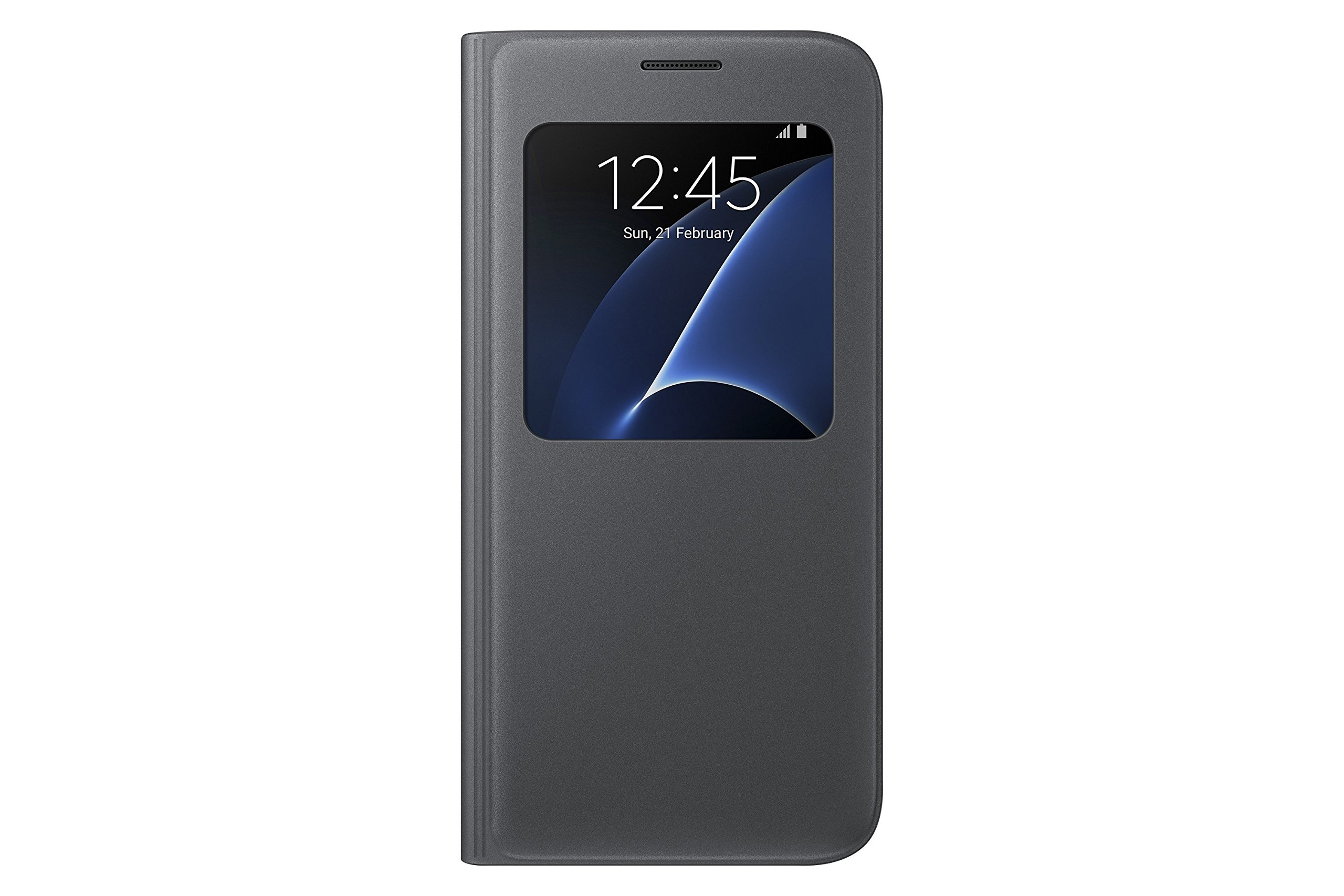 Samsung Galaxy S7 Case S-View Flip Cover - Black by Samsung (Image #1)