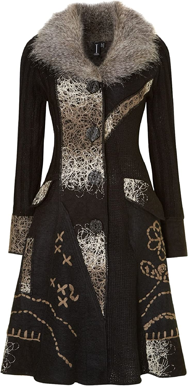 Stella Morgan Izabel Knitted Wool Blend Longline Patchwork