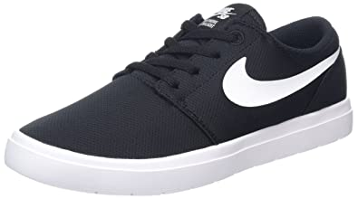 8fc926c626f25 Nike Boy s SB Portmore II Skate Shoes Black White ...