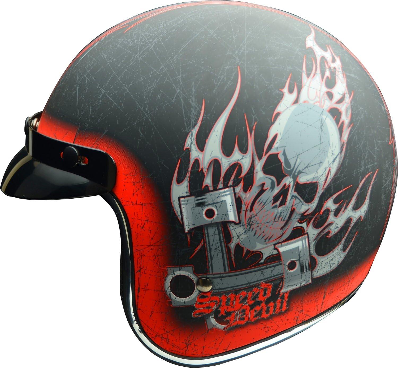 Vega Vintage Motorcycle Helmet for Men /& Women Classic Retro Open Face Design Lightweight DOT Certified for Motorbike Cruiser Moped Scooter ATV