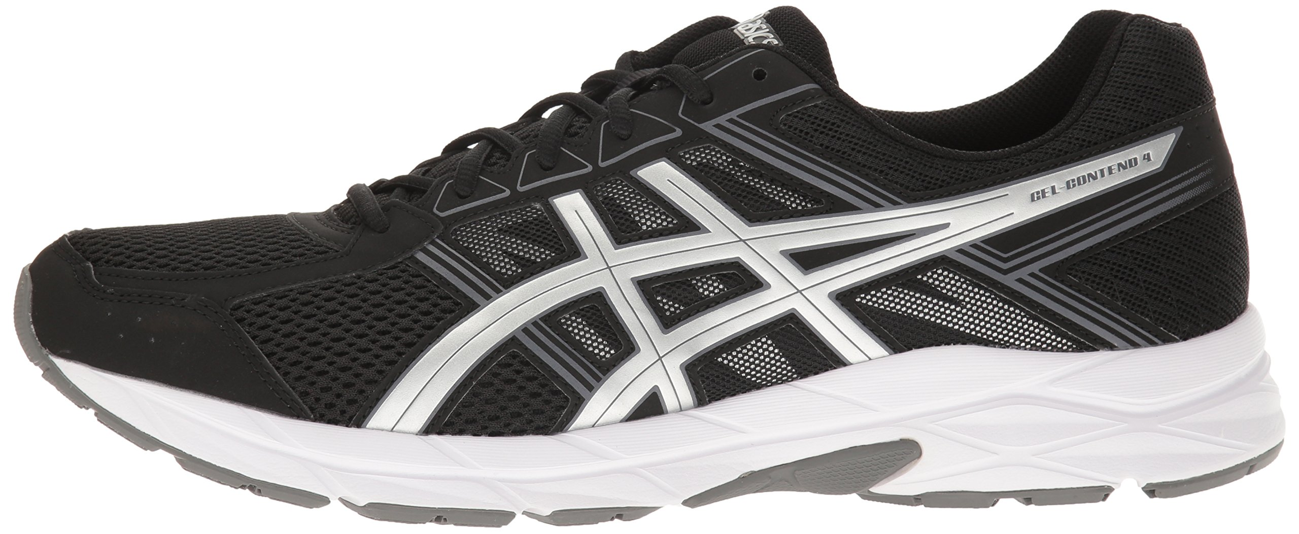 ASICS Men's Gel-Contend 4 Running Shoe, Black/Silver/Carbon, 7.5 M US by ASICS (Image #5)