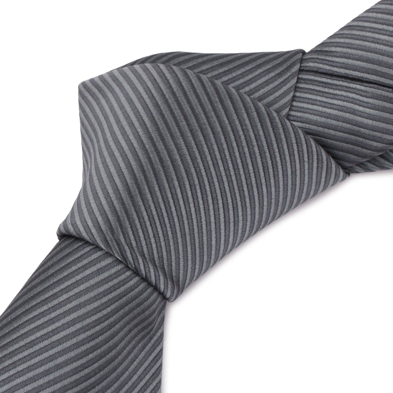 Mens Necktie Classic Striped Neckties, 54'' Long Polyester Solid Grey Neck Tie, Seasonless Formal Casual Business Necktie by Segbeauty (Image #7)