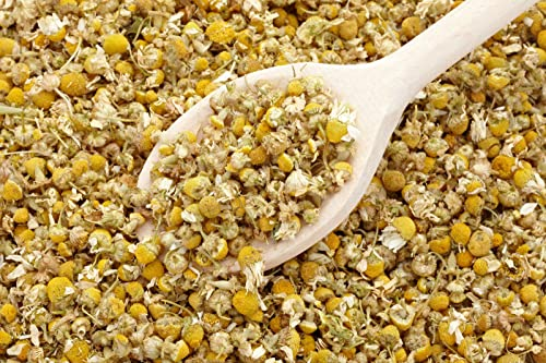 bMAKER Dried Chamomile Tea Flowers 4oz - Whole Loose Leaf Bulk Bag - Kosher Certified Herbs for Relaxation Herbal Tea, Soap Making, Lotion, Shampoo, Essential Oil Extract and More