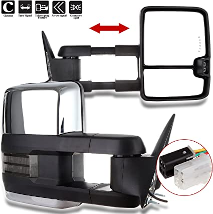 SCITOO Towing Mirrors Exterior Accessories Mirrors fit for 2017-2019 Ford F250 F350 F450 Super Duty with Left and Right Side Power Heated Turn Signal lamp Auxiliary Lamp