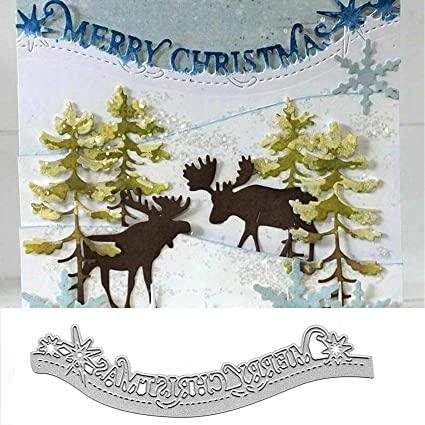 Merry Christmas Design Metal Cutting Dies For Scrapbook DIY Album Paper Card