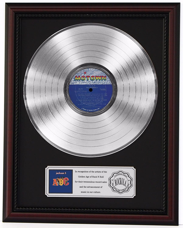 Jackson 5 Abc Platinum Lp Record Framed Cherrywood Display K1 At
