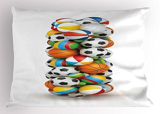 Ambesonne - Funda de almohada con diseño de letra I, bolas ...