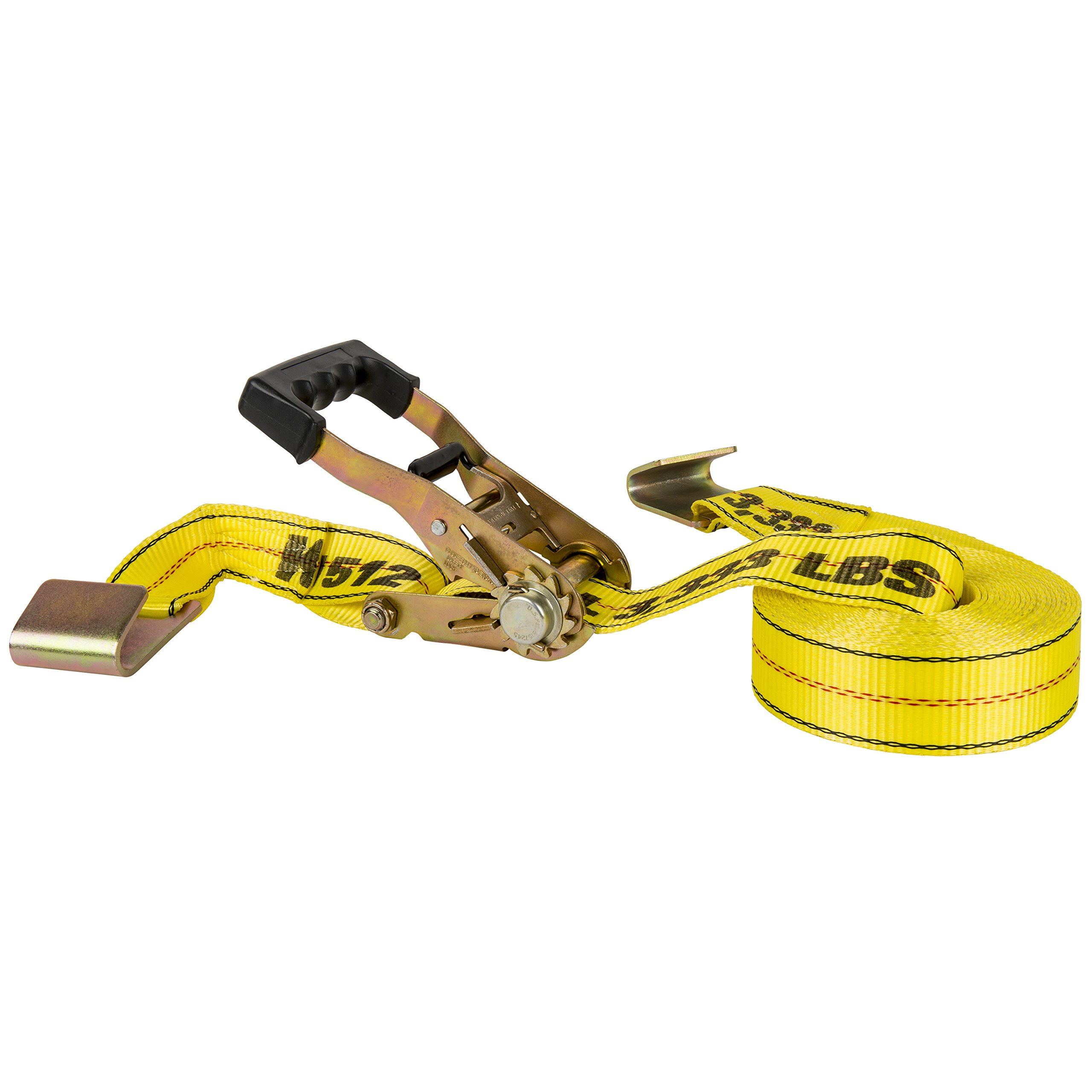 Keeper 04606 27' x 2'' EZ Release Ratchet Tie Down, 10,000 lbs with Flat Hooks by Keeper