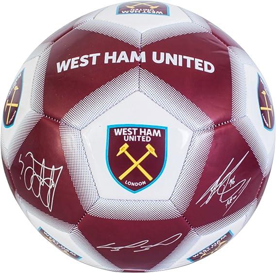 West Ham United FC Official - Balón de fútbol con firmas de los ...