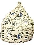 13Casa - Parigi A1 - Poltrona sacco. Dim: 70x70x110 h cm. Col: Fantasia. Mat: Poliestere.
