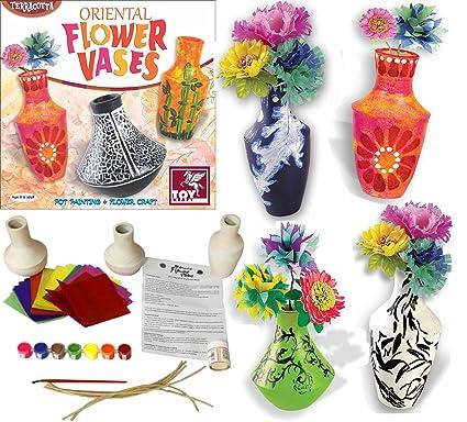 Oriental Ceramic Painting Vase Paper Flower Making Arts Craft