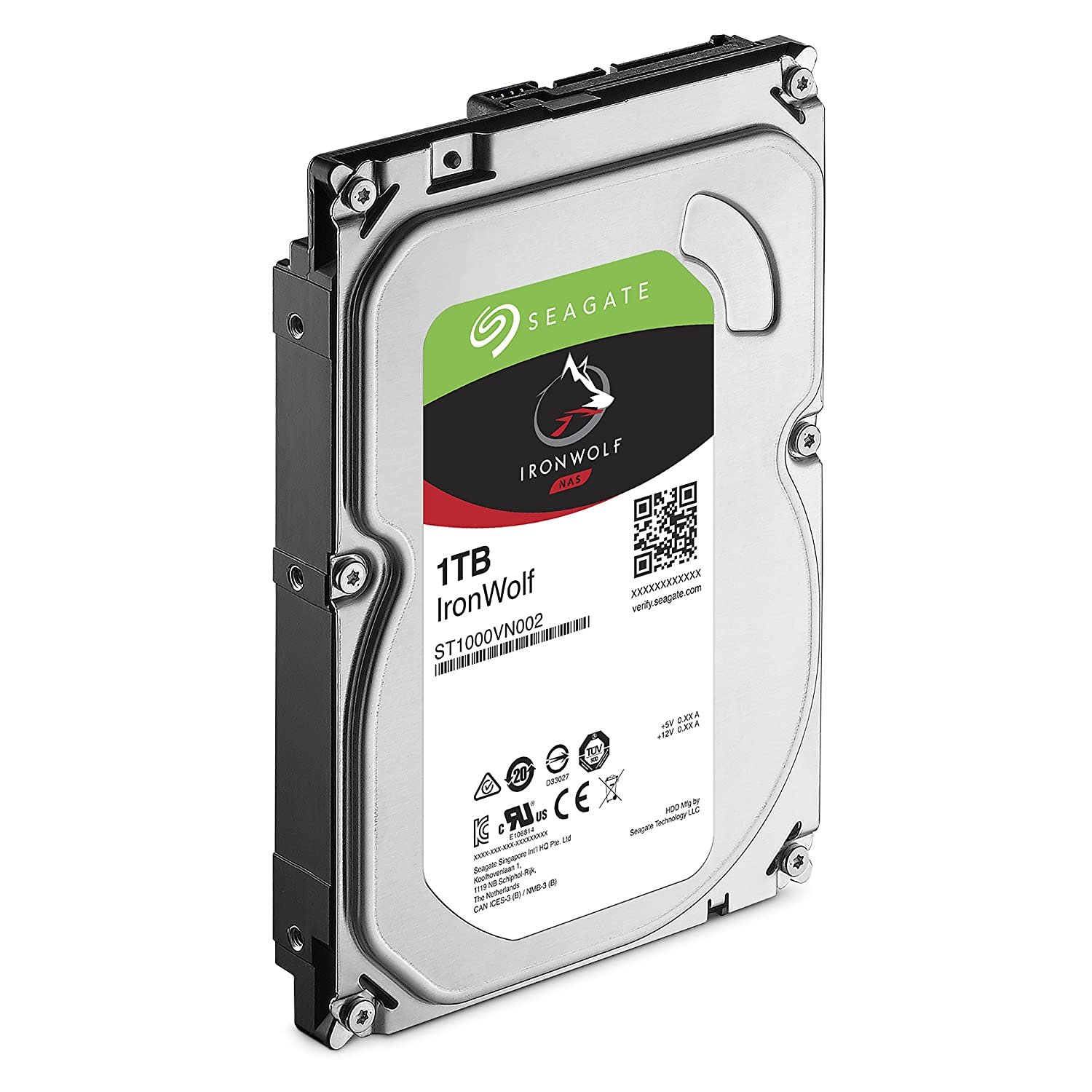 7200 RPM, 256 MB Cache, 300 TB//year Workload Rating, Up to 214 MB//s, Model: ST6000NEZ023//NE0023 Seagate 6 TB IronWolf Pro 3.5 Inch Internal Hard Drive for 1-24 Bay NAS Systems