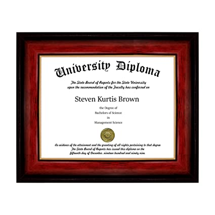 Amazon.com - Single Diploma / Document Frame for 17\