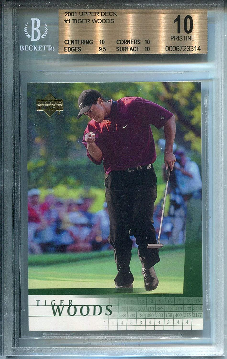 Tiger Woods 2001 Upper Deck Rookie Card Bvg At Amazons Sports