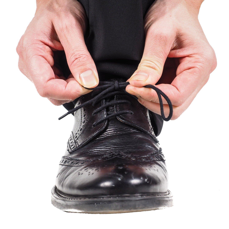 3 Paare Schnürsenkel Runde Gewachste Schnürsenkel 80 cm Kleid Schnürsenkel für Casual und Kleid Schuhe der Männer und Frauen (Schwarz) efp2hkUfU