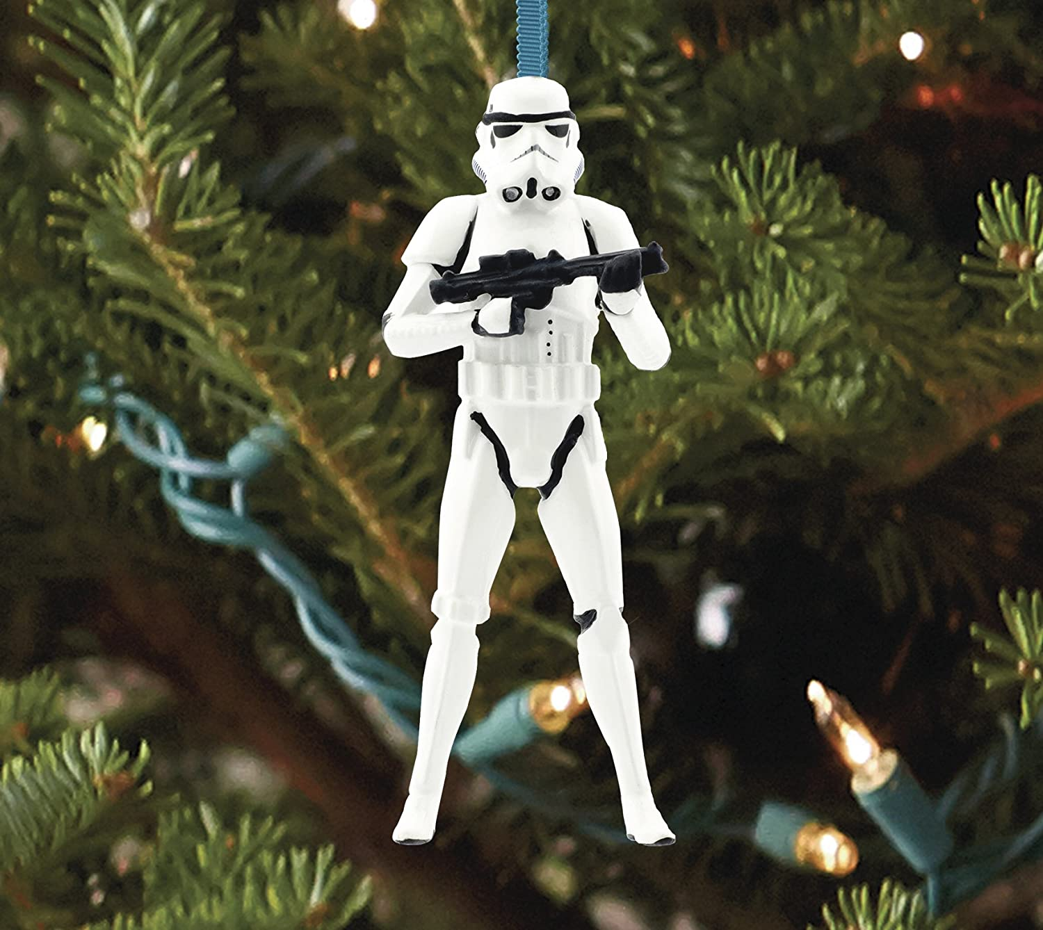 Amazon.com: Hallmark Star Wars StormTrooper Christmas Ornament ...