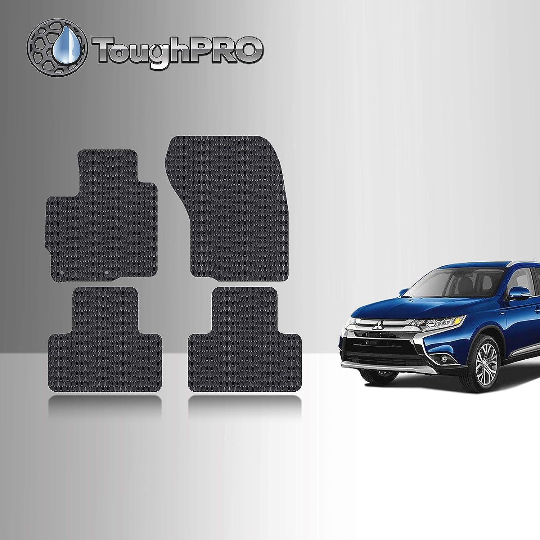 SMARTLINER Custom Fit Floor Mats 1st Row Liner Set Black for 2011-2019 Mitsubishi Outlander//Outlander Sport