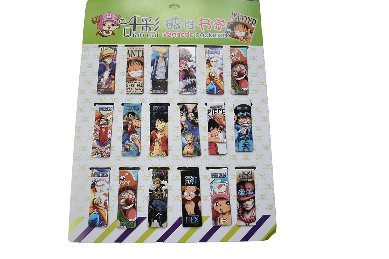 Fat-catz-copy-catz 2/x novit/à giapponese anime One Piece Zoro Luffy design segnalibro magnetico segnapagina