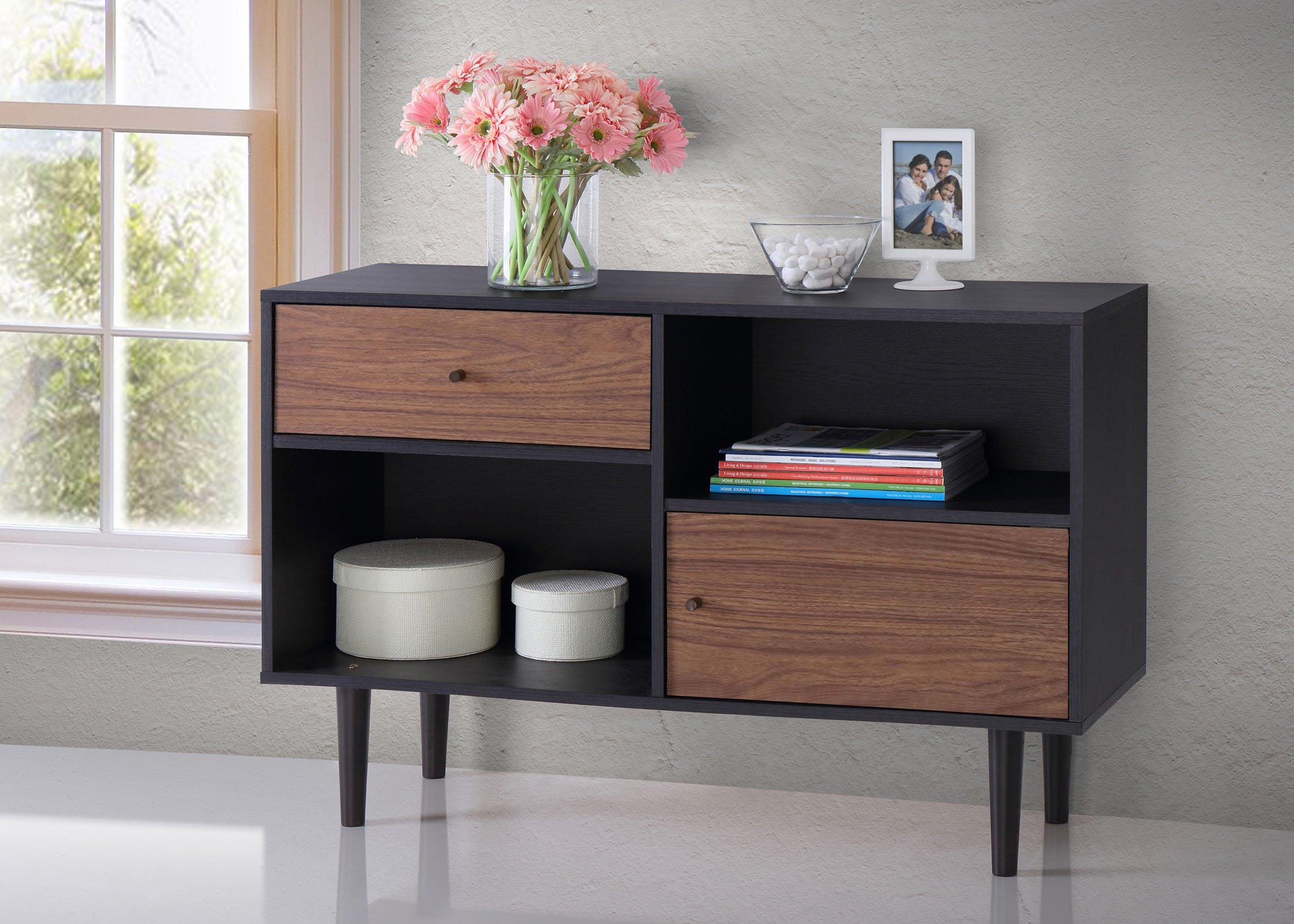 Baxton Furniture Studios Auburn Mid-Century Modern Scandinavian Style Sideboard Storage Cabinet by Baxton Studio