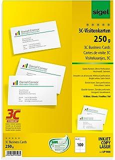 Sigel Ip532 Visitenkarten Mit Leinen Struktur Für Inkjet