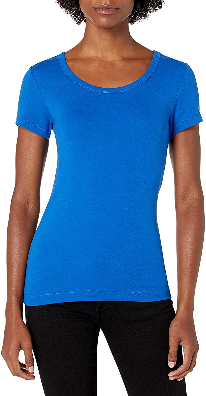 2-Pack Slim-Fit cap-Sleeve Scoopneck T-Shirt Fashion-t-Shirts Donna Essentials