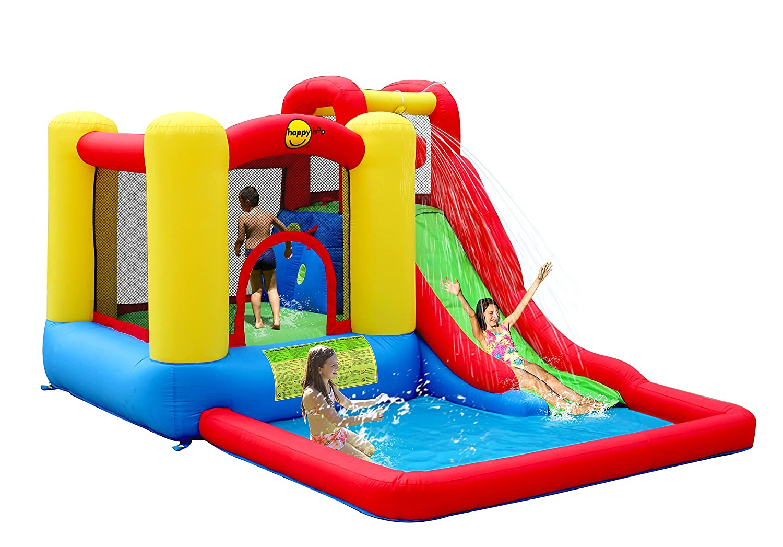 Happy Hop Gonfiabile Salta & Splash - Castillos hinchables (135 kg ...