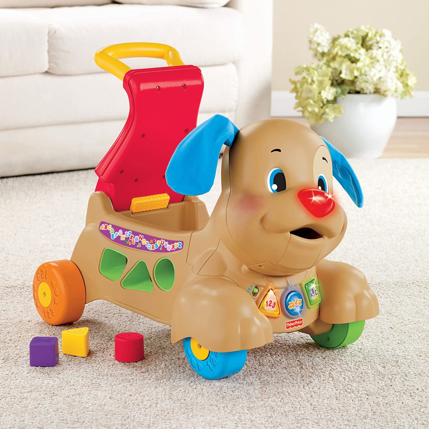 Exclusive Fisher-Price Laugh /& Learn Stride-to-Ride Puppy