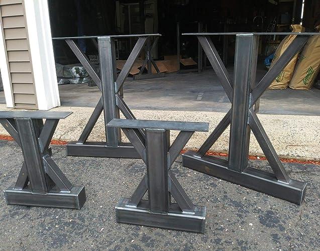 Amazon Com Metal Table Bases Metal Table Legs Bench Base Dining Table Base Handmade