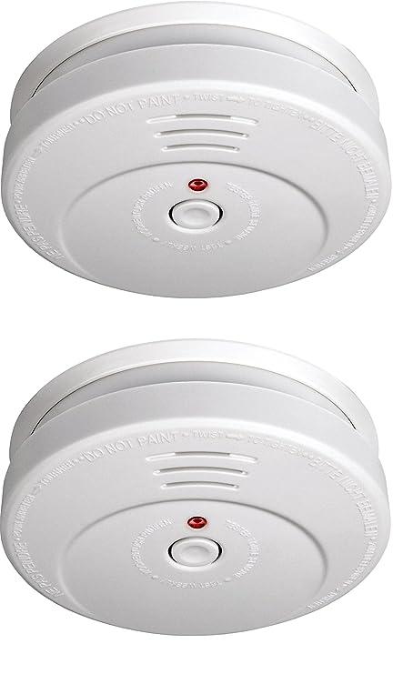 Smartwares 10.024.46 Alarma de Humo 2 Packs-1 año de batería Certificado TUV RM149/2, Blanco