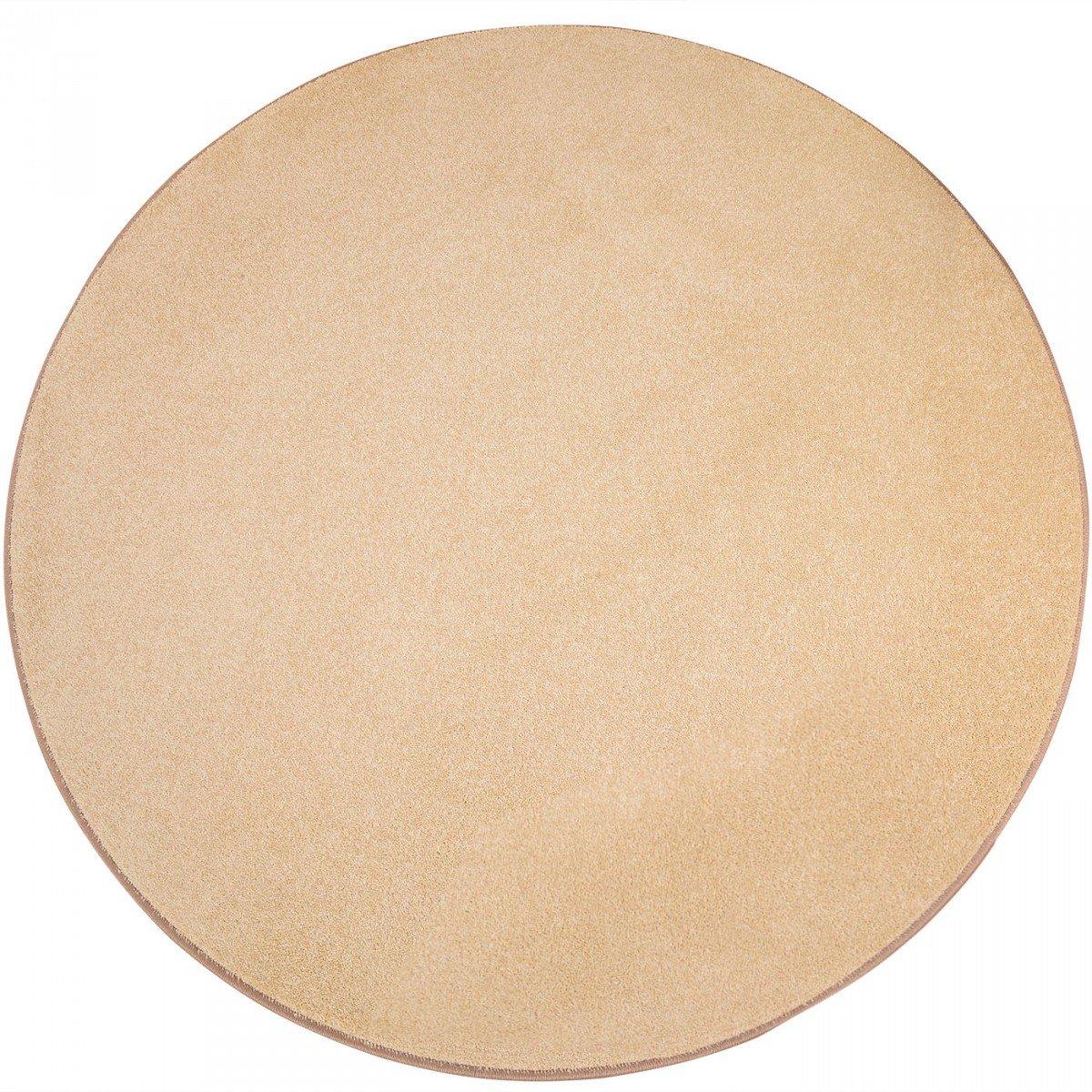 Havatex Teppich Kräusel Velour Burbon rund - 16 moderne sowie klassische Farben   schadstoffgeprüft pflegeleicht & robust   ideal für Wohnzimmer, Farbe Rot, Größe 180 cm rund B00FQ10HHO Teppiche