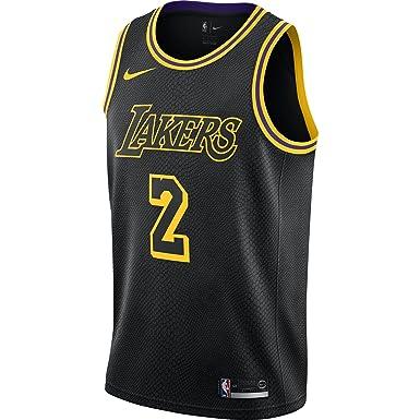 Nike NBA Los Angeles Lakers Lonzo Ball 2 2017 2018 City Edition Black Mamba Jersey Oficial Away, Camiseta de Hombre: Amazon.es: Ropa y accesorios