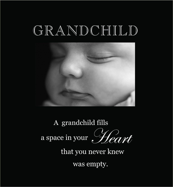 Havoc Gifts 3002-LB Grandchild Engraved Photo Frames, Large, Black