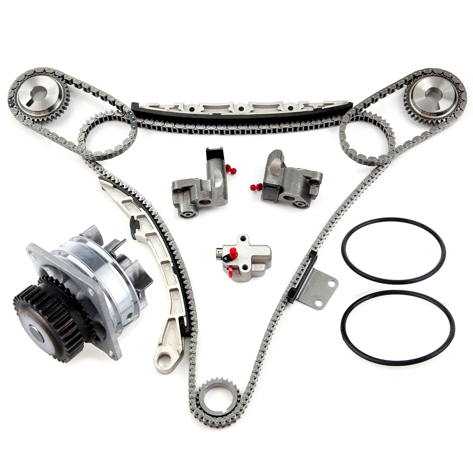 ECCPP Timing Chain Kit and Water Pump with gasket for 2002 - 2007 Nissan Murano 350Z Maxima VQ35DE 3.5L