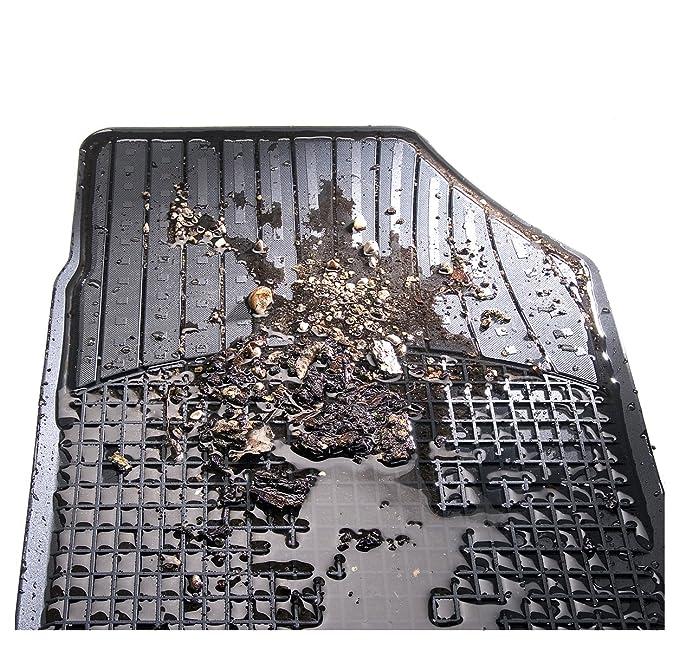Auto Fussmatten Set in schwarz ohne Mattenhalter f/Ã/¼r  KA Baujahr 02//2009-09//2016 CarFashion Allwetter Schalenmatte A1 4-teilig