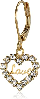 "product image for 1928 Jewelry ""Love Hearts"" 14k Gold Dipped Crystal Accented Earrings"