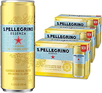 24-Pack S.Pellegrino Flavored Mineral Water Cans, 11.15 Fl Oz