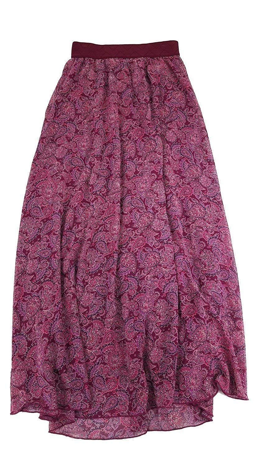913137a9fcdf2c Lularoe Lucy Paisley XX-Small (XXS) Floor Length Women's Skirt fits Sizes  00-0 at Amazon Women's Clothing store: