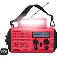 $39 » Weather Radio, Portable Emergency Solar Hand Crank Battery Powered AM FM SW NOAA Radio,…