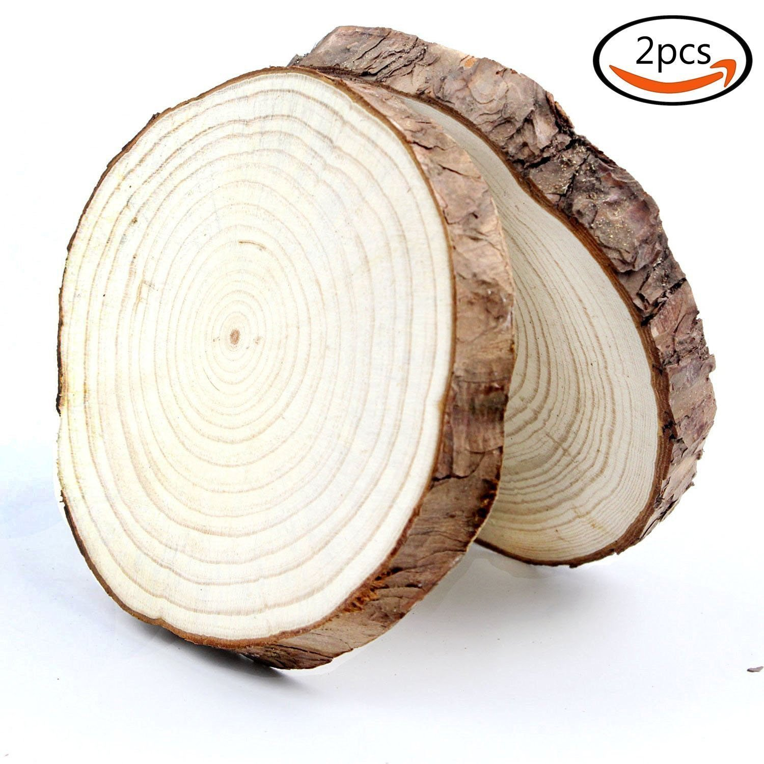 Amazoncom Coco Unpainted Natural Round Blank Wood Slices With Tree