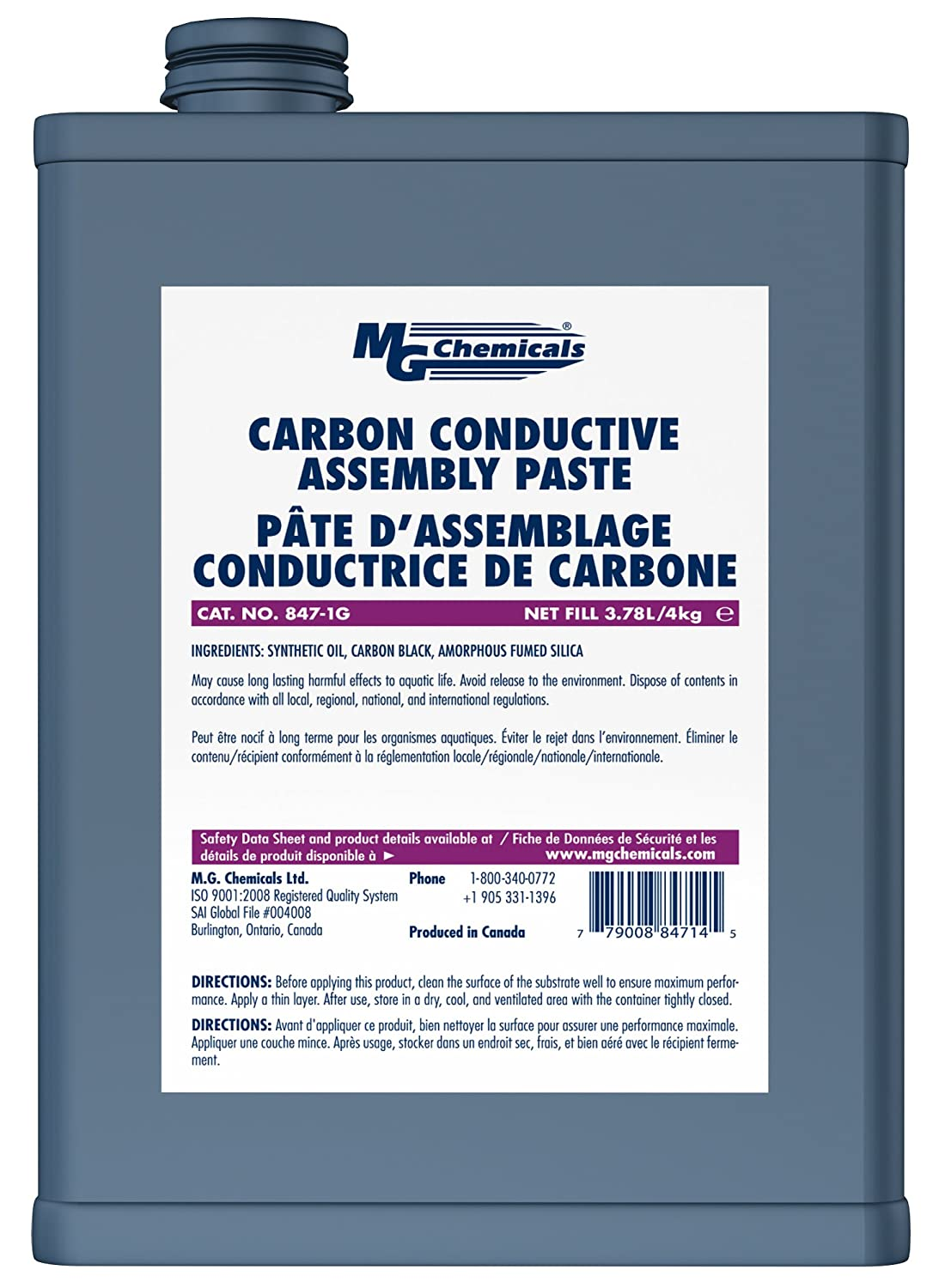 MG Chemicals Carbon Conductive Assembly Paste, 1 gal Can