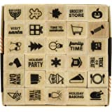 Hero Arts Kelly's Holiday Planner Icons Wood Block Rubber Stamp