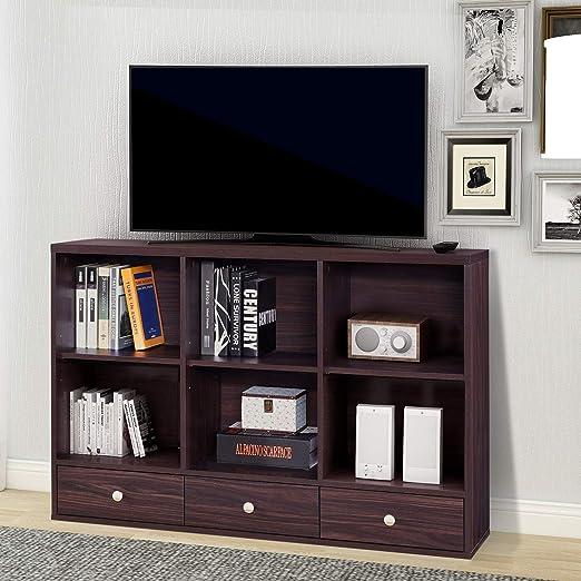 COZYWELL - Mueble de Madera para televisor con cajones y estantes: Amazon.es: Juguetes y juegos