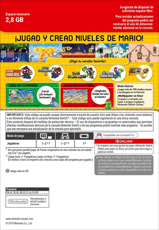 Super Mario Maker 2: Pack de juego + Suscripción de 12 meses ...