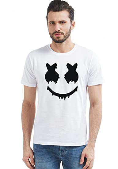 46358634bfa2 Generic Men s Graphic Printed Marshmallow Round Neck Half Sleeve T-Shirt  (White
