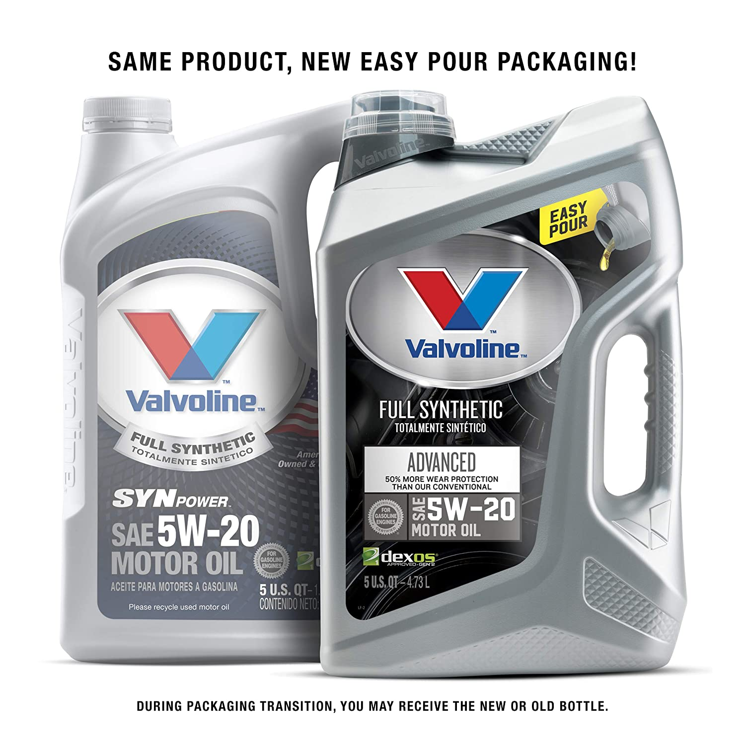 Amazon.com: Valvoline SynPower 5W-20 Full Synthetic Motor Oil - 5qt (Case of 3) (787023-3PK): Automotive