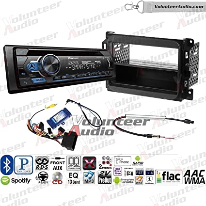 Amazon.com: Pioneer DEH-S4100BT Single Din Radio Install Kit ... on