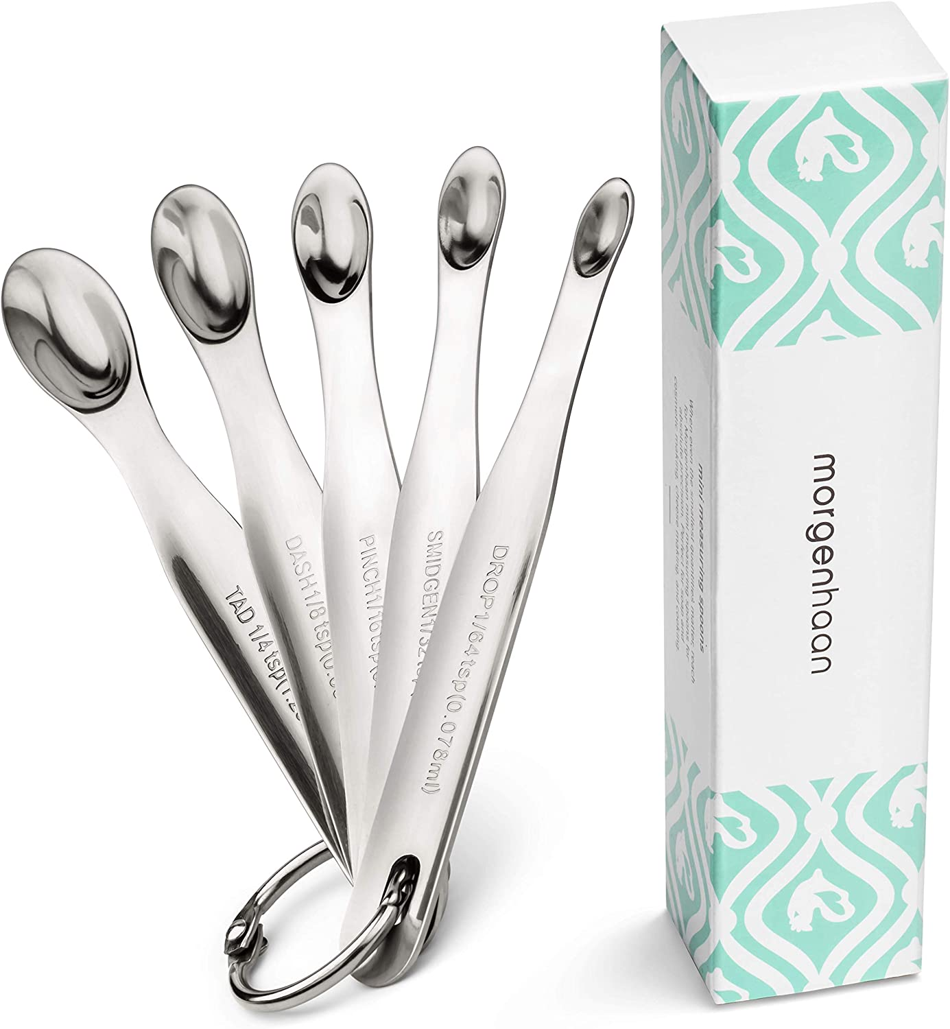 Morgenhaan Stainless Steel Mini Measuring Spoons, Set of 5 Pieces