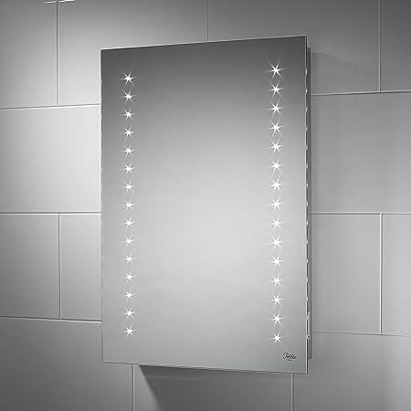 Pebble Grey 500 X 700 Mm Bathroom Mirror With Lights Aurora